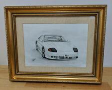 Dodge Stealth 1991 Signed Art Drawing by DA Williams Mitsubishi 3000gt Framed