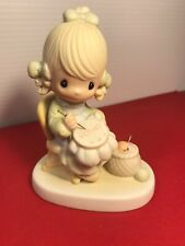 "1979 Precious Moments ""Mother Sew Dear"" Figurine In Original Box"