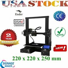 US Stock Creality Ender3 3D Printer Resume Print OSHW Certified DC 24V 15A NEW