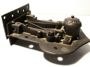 Antique 19thC Heavy Iron ELABORATE Door Lock - SSS shaped Key Working #T191E