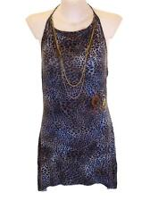 Bnwt Women's Christian Audigier 10 Necklace Halter Dress Large New RRP$120