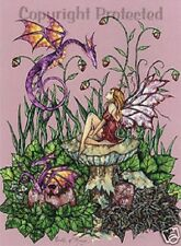 Amy Brown Birth of Magic Dragon Fairy Greeting Card New