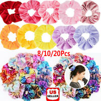 8/10/ 20 Packs Hair Scrunchies Velvet Scrunchy Bobbles Elastic Hair Bands Holder