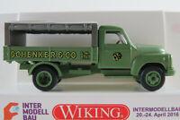 """Wiking 034554 Hanomag L 28 P/P (1950) """"SCHENKER"""" in maigrün 1:87/H0 NEU/OVP"""