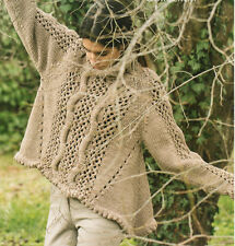 """Asked Mesdames maille effet cascade pull 36 """" - 42"""" motif tricot"""