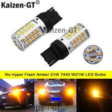 No Hyper Flash Amber 21W 7440 W21W LED Bulbs For Front/Rear Turn Signal Lights