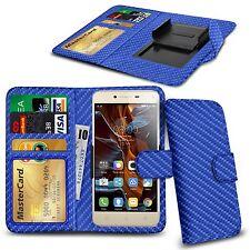 For HTC Sensation XL - Various Carbon Fibre Clip Wallet Case Cover