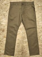 Mens Vintage Levis 511 Slim Straight Brown Tan Denim Jeans Chinos W36 L32