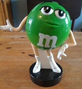 Rare 2009 GREEN M&M Bank - Female Figure, New and unused rare collectible