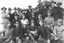 1898 Photo-Theodore Roosevelt and Rough Riders Officers-Montauk, New York