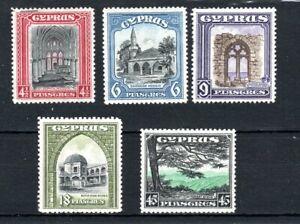 Cyprus 1934 4 1/2pi to 45pi MH