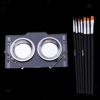 Pennello per pennelli 7pcs con vassoio per pigmenti per modellismo o pittura