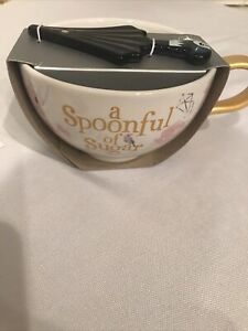 Disney Parks Store Mary Poppins Spoonful of Sugar mug w/ umbrella spoon NEW