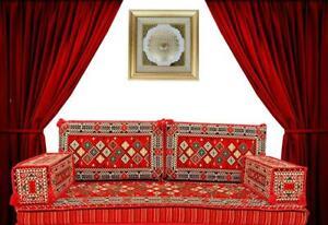 ARABIC MAJLIS JALSA TURKISH SOFA, OTTOMAN STYLE FLOOR CUSHION SEATING