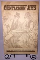 Vintage GENTLEMAN JIM'S 70s Full Restaurant MENU Florida Dining Coffee 55 Cents