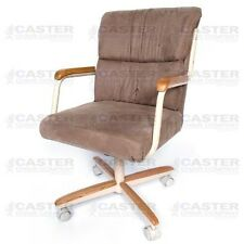 Casual Rolling Caster Dining Arm Chair w/ Swivel Tilt (Set of 2)