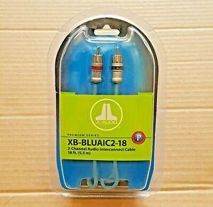 JL Audio XB-BLUAIC2-18 Premium ECS 2-Ch 18-ft RCA Audio Interconnect Cable * NEW