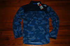 New Men's Under Armour Combine HeatGear Acceleration Blue Camo L/S Shirt (Large)