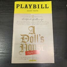 A DOLL'S HOUSE PART 2 May 2017 Broadway Playbill! LAURIE METCALF Chris Cooper