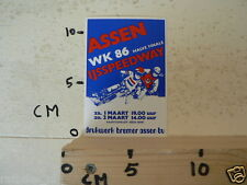 STICKER,DECAL ASSEN IJSSPEEDWAY  HALVE FINALE WK 1986 HOLLAND