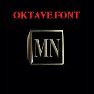 Solid Bronze MN Motorcycle Club Letter biker Ring Oktavefont Custom size