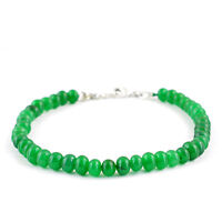 PREMIUM QUALITY 72.50 CTS EARTH MINED RICH GREEN EMERALD ROUND BEADS BRACELET