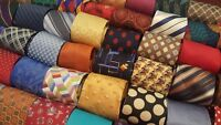 LOT 50 PCS 100% SILK NECKTIES DRESS SUIT NECK TIE QUILT CRAFT FREE SHIP
