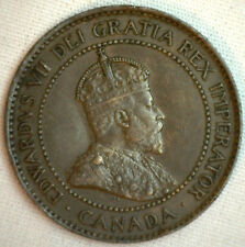 1903 Copper Canadian Large Cent Coin 1-Cent Canada XF #25