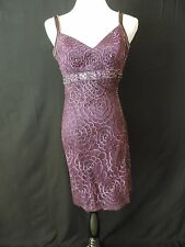 New With Tag Sue Wong Beaded Dress sz 2 Purple Floral