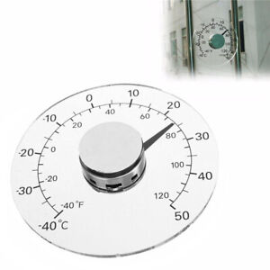 Circular Self Adhesive Window Outdoor Thermometer Pointer Temperature Meter