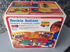 1978 Mattel console   game Preschool Rockie Rollies School Bus Playset Nib