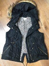 Witchery Girls Sz 10 Black Padded Vest