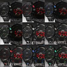 OHSEN Men Boys Waterproof Military Dual Time Display LED Sports Wrist Watch