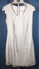 Pink Soda Womens Medium Dress Silk Sheath Sequin Gray Q30