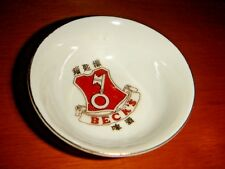 BECK'S Small Porcelain Dish w/Emblem, Made in Hong Kong