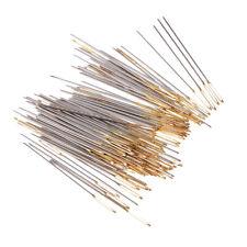 100x Sliver Golden Large-Eye Needles Embroidery Cross Stitch Needle Tool 26#