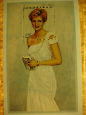 LOT OF 5 PRINCESS DIANA STAMP SHEETS INT'L COLLECTOR'S SOCIETY w/COA's