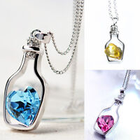 Creative Charm Necklace Ladies Popular Love Drift Bottles Pendant Necklace ATRM