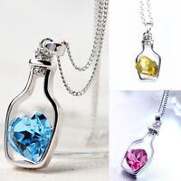 Creative Charm Necklace Ladies ular Love Drift Bottles Pendant Necklace A gN