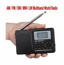AM FM SW MW LW Digital Display Multi Band Pocket World Radio Alarm Clock