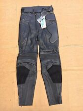 "RICHA Ladies Leather Motorbike Motorcycle Trousers Ladies UK 10  28"" Waist  No71"