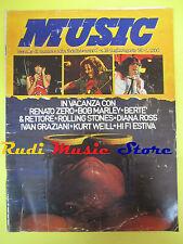 Rivista MUSIC 18/1980 Renato Zero Diana Ross Rolling Stones Dylan Graziani No cd