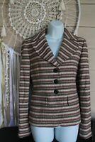 Ann Taylor Loft Blazer Striped Cotton jacket Size 4