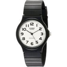 Casio Mens Wrist Watch White Dial Analog Display Black Resin Strap Band Casual
