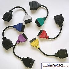 MultiECUScan Green, Red, Yellow, Purple, Blue & Grey Adaptors for Fiat & Alfa