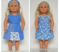 18INCH DOLL CLOTHES~ BLUE REVERSIBLE BLUE DRESS FOR OUR GENERATION AMERICAN GIRL