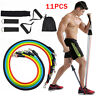 6/ 11 PCS Resistance Bands Set Home Gym Exercise Fitness Tube Bands Training New