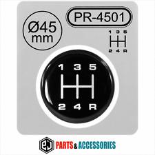Palanca de cambio Gear Knob Pegatina 3D abovedado Stick patrón Gearstick Insignia 5 velocidad 45