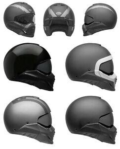 BELL 2021 Broozer Voll & Jethelm P / J.Strasse Motorrad Helm & Gratis Dark