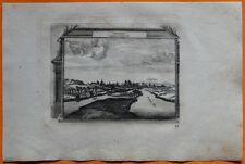 VAN DER AA Gravure originale c1725 VUE D'AMIENS Picardie Somme Saint-Fuscien